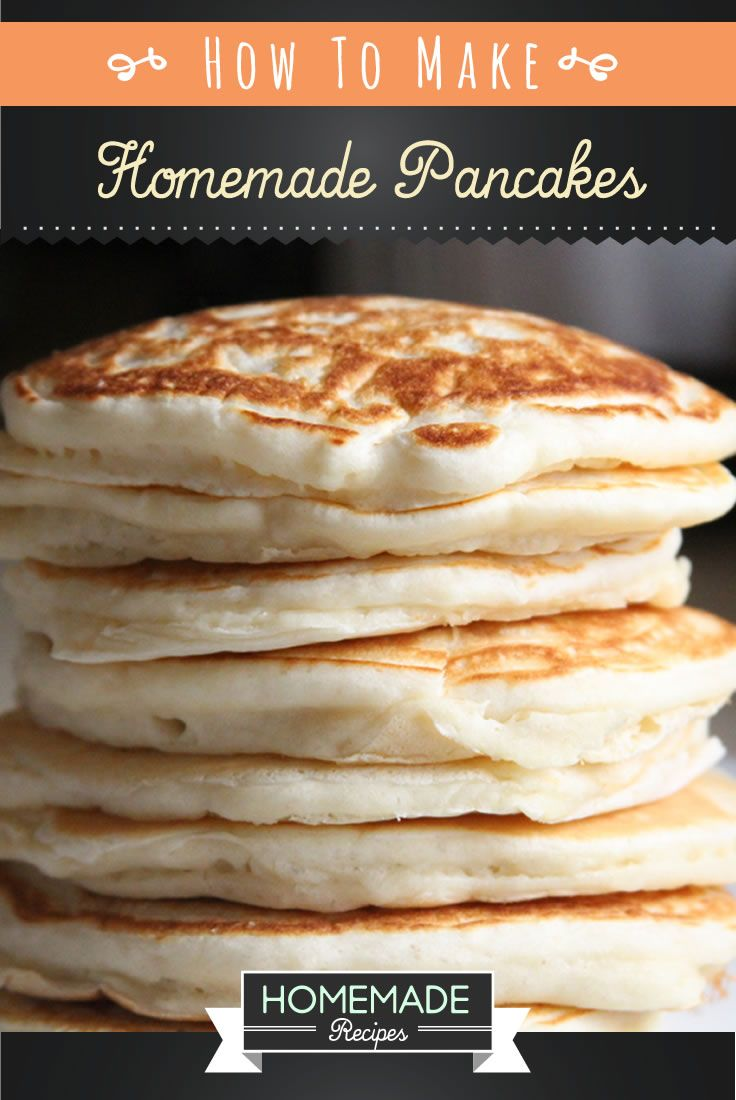 Here's an easy homemade pancake recipe that's perfect for breakfast! Get your pan hot and ready for this delicious, quick and easy homemade pancake recipe!