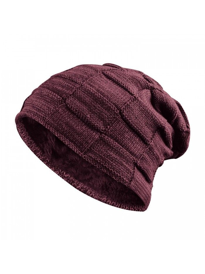 Trendy Warm Winter Slouchy Stretch Cable Knit Beanie Oversized Slouch Hat -  Stay Warm   Stylish - Red - C8188DMOW9E in 2019  1464ee307999