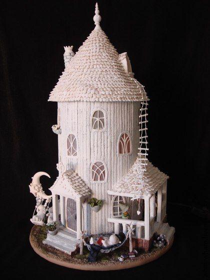 - handmade Moomin house.
