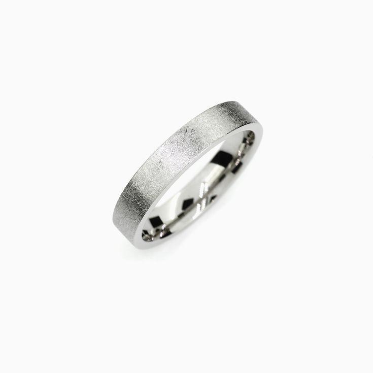 Anillo de boda para hombre, anillo de boda para hombre moderno, hombre de paladio, titanio, plata, platino, oro blanco, anillo de boda simple, exclusivo y personalizado   – Torkkeli Jewellery Etsy Store