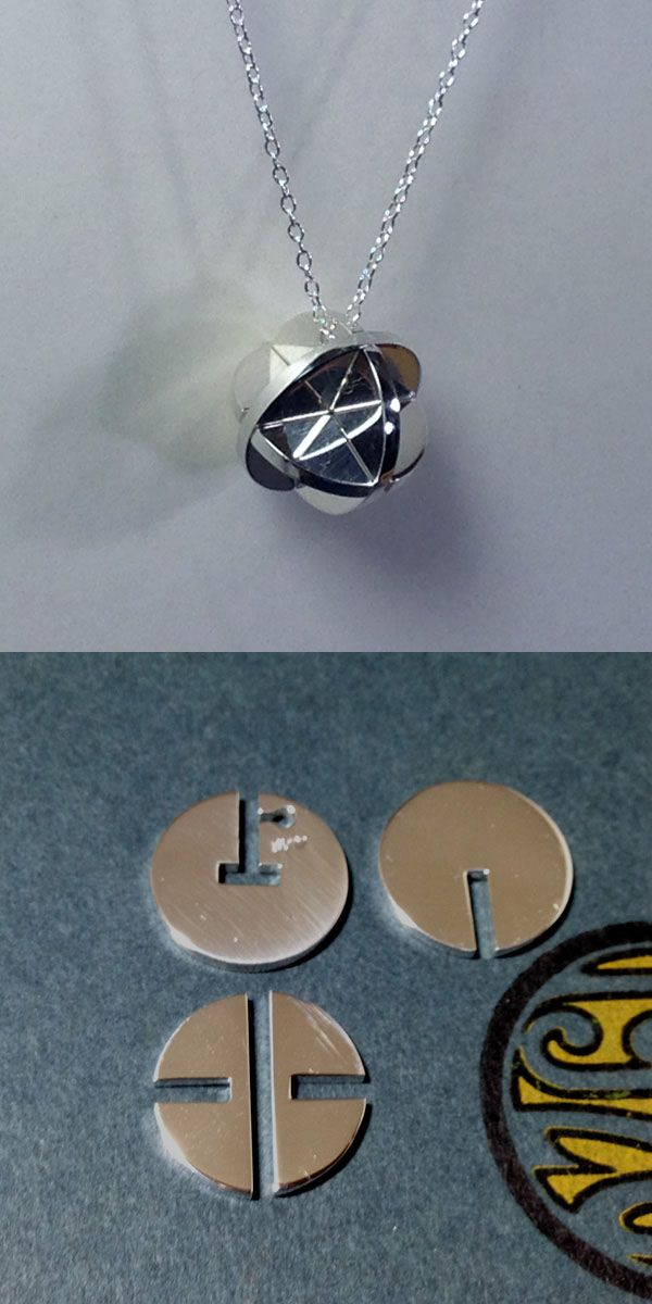Puzzle Sphere Pendant