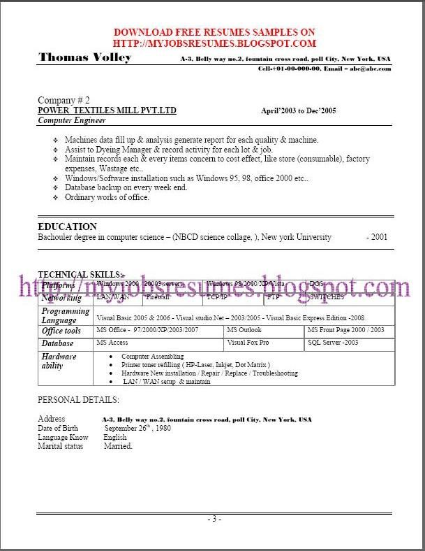 Oltre 25 fantastiche idee su Free resume samples su Pinterest - resume sample for job