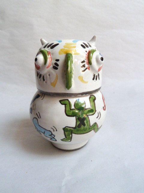 Owl jar inspiration  Keith Haring. Gufo barattolo di LabLiu, €14.00