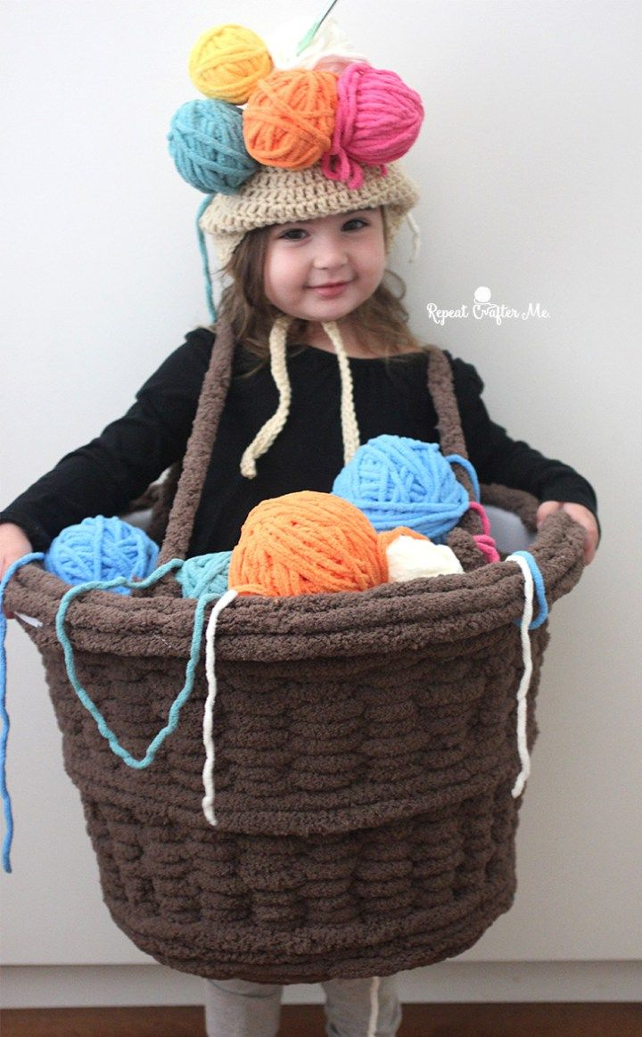 Best 25 crochet halloween costume ideas on pinterest beard hat yarn basket crochet costume crochet halloween bankloansurffo Image collections