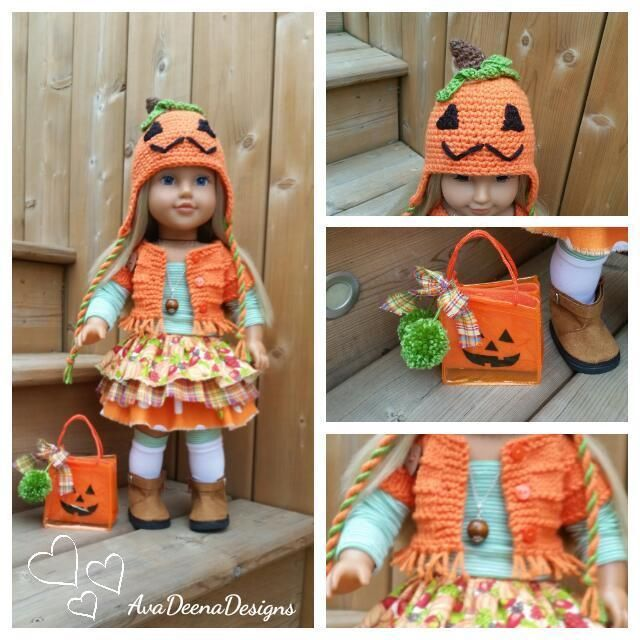 Complete Fall Pumpkin outfit clothes for 18 inch doll - american girl doll | eBay