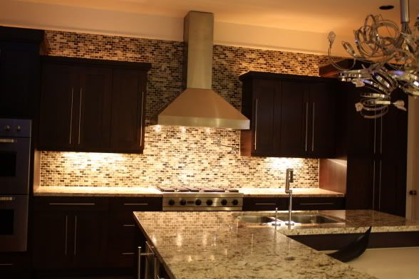Backsplash And Range Hood Love How The Crown Was Stopped At Cabinets Home Decor Kitchens