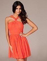 Annons på Tradera: Rare Fashion Orange Dress Nelly, Orange Snygg Klänning
