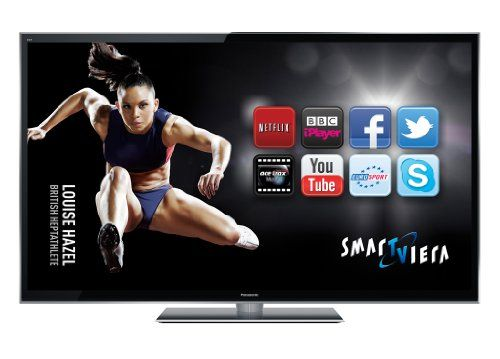 Panasonic TX-P65VT50B 65-inch Full HD 1080p 3D Smart VIERA Plasma TV with Freeview HD and Freesat HD including 2 free pairs of 3D glasses - Black (New for 2012)