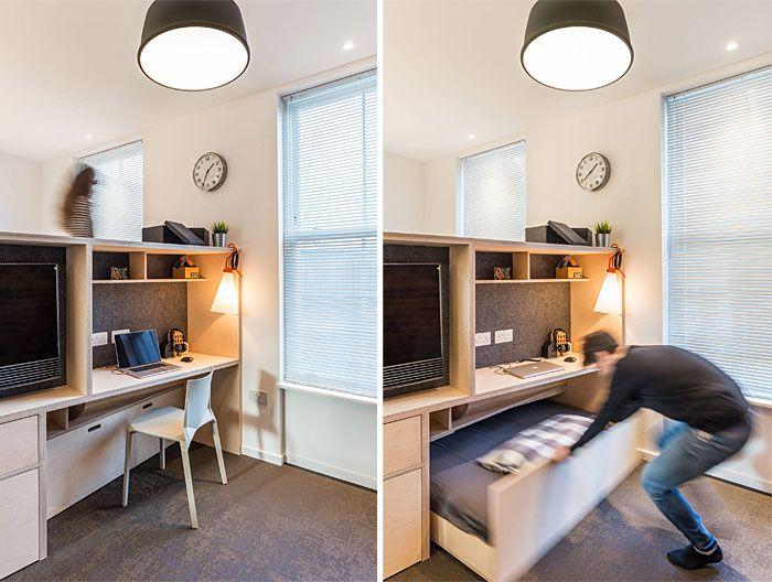 50 Small Studio Apartment Design Ideas 2019 Modern Tiny 038 Clever Small Apartment Interior Apartment Design Apartment Interior Design