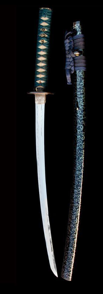WAKIZASHI MOMOYAMA, Sword: 16th Century; Steel, iron, gold, lacquer byChie Fujimoto:
