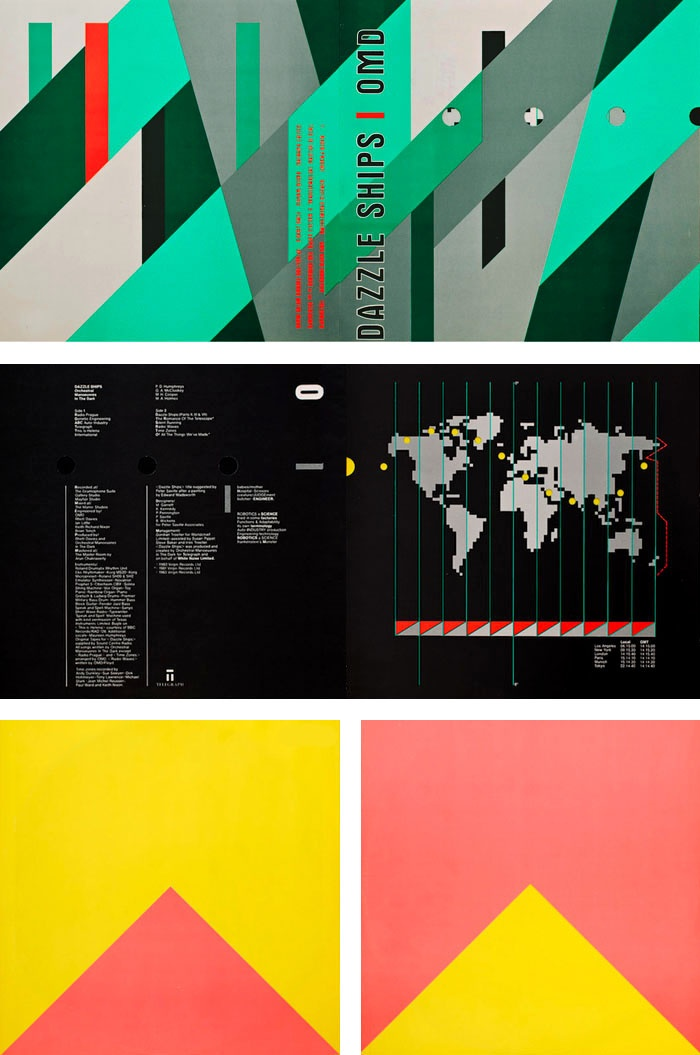 OMD 'Dazzle Ships' Cover Art by Peter Saville and Malcolm Garrett