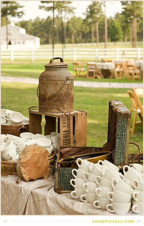 45 best wedding decoration ideas images on pinterest wedding crates and jugs used to decorate the coffee or tea table for a rustic party junglespirit Choice Image