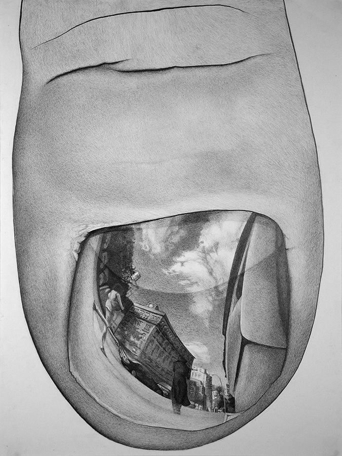 looking in mirror different reflection drawing. thumbnail mirror, graphite on paper by jeff castleman #thumb #fingernail # reflection #drawing | pinterest graphite, ap studio art and looking in mirror different drawing .