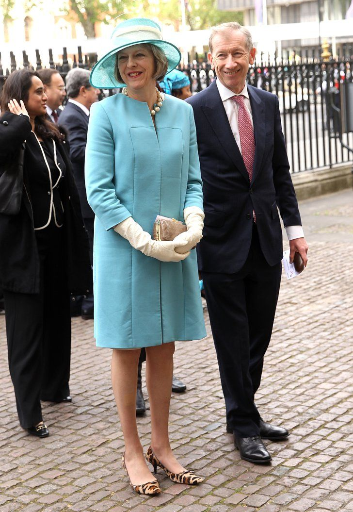 Pin for Later: British Prime Minster Theresa May Has a Style Mantra For All Power Women Dainty Gloves