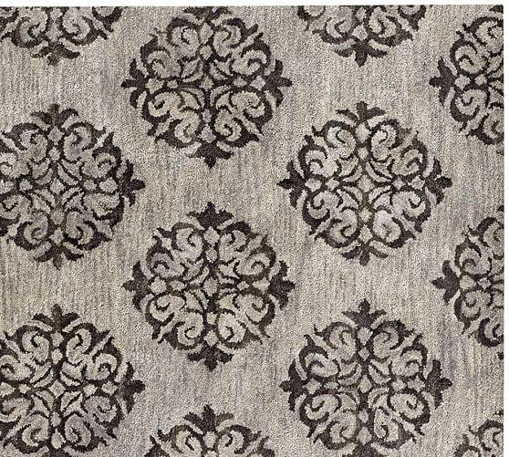 Empire Scroll Rug Gray Pottery Barn Grey rugs, Rugs