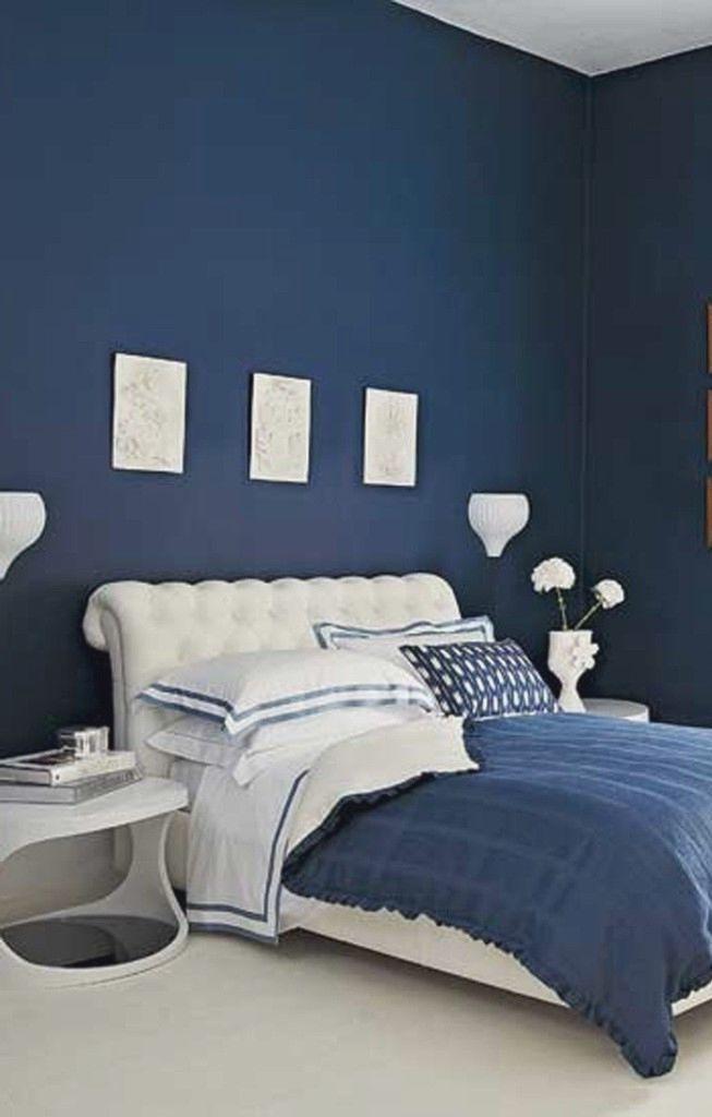 35 Beautiful Blue Bedroom Pictures Ideas Dark Blue Bedroom Walls Blue Bedroom Bedroom Design