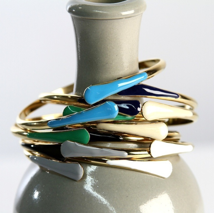 Enamel Matchstick Bangles by Leila $18 each: Leila Jewelry, Bling Jewlery, Style, Jewelry Inspiration, Bracelets, Color, Matchstick Bangles, Jewelry Accessories, Enamels Matchstick