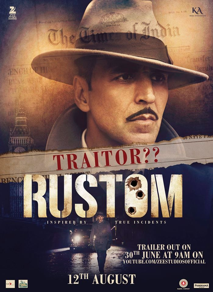 Rustom's New Poster Released: Akki Gives An Intense Look!