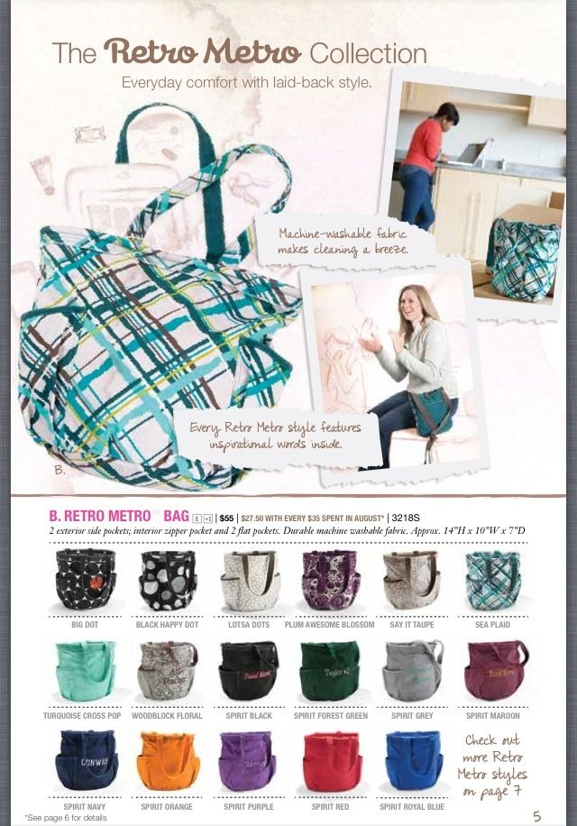 Sneak peek at the new Thirty one purses coming in August!