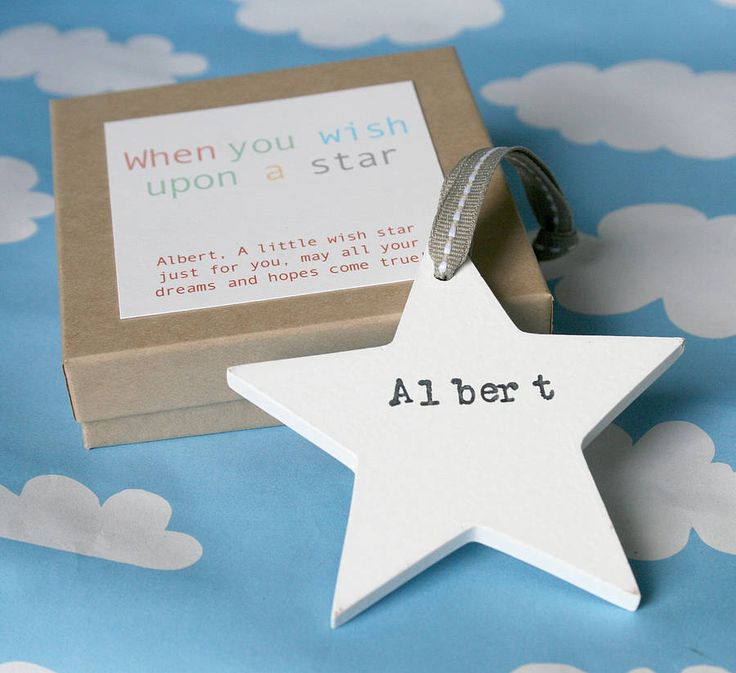 personalised wooden wish star by modo creative | notonthehighstreet.com
