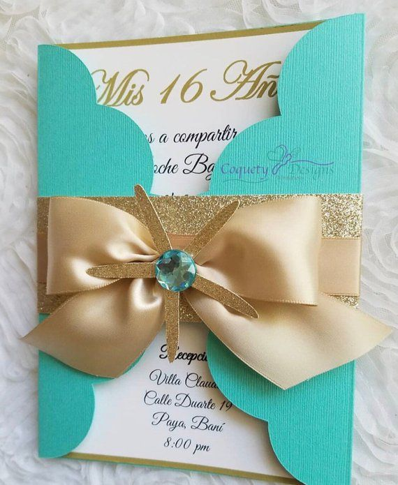 Really Beautiful Under The Sea Invitation Sweet16 Quinceaneras