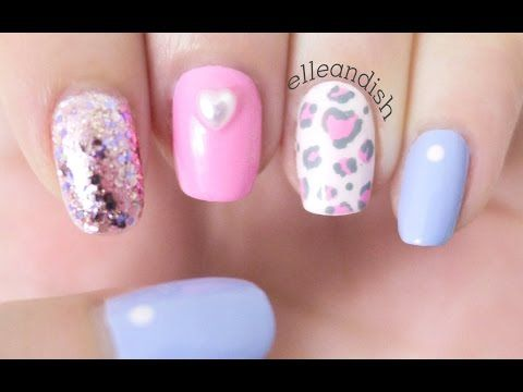 ❤ Soft Pink Leopard Nails + GIVEAWAY for Valentine's Day! ❤ - YouTube