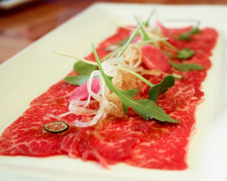 Do you know the story of carpaccio? It was invented in 1950 in Venice when it was prepared for a countess who had apparently been advised by doctors to only eat raw meat. The now-popular dish was named after Vittore Carpaccio a Venetian painter noted for artwork prominent in colors of red and white. Fascinating right?