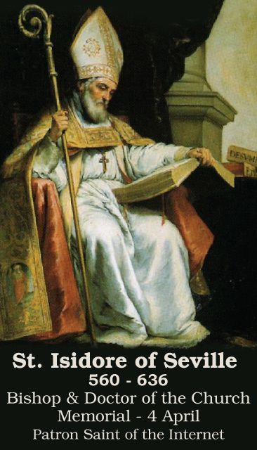 April 4: St Isidore of Seville