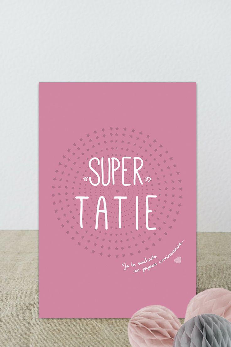 """Carte postale """"Super Tatie"""" je te souhaite un joyeux"""