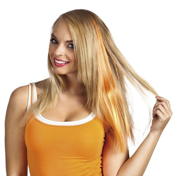 Geef jouw haar een oranje tintje! Bekijk onze websites voor meer accessoires en kleding voor Koningsdag!