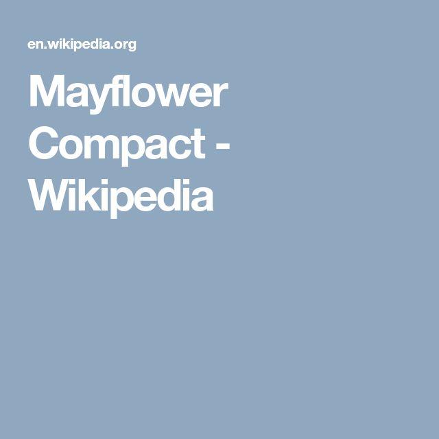 Mayflower Compact - Wikipedia