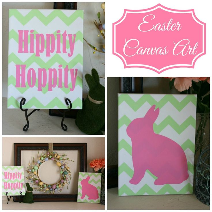 Easter Canvas Art - Expressions Vinyl Guest Contributor Post | Addicted 2 DIY