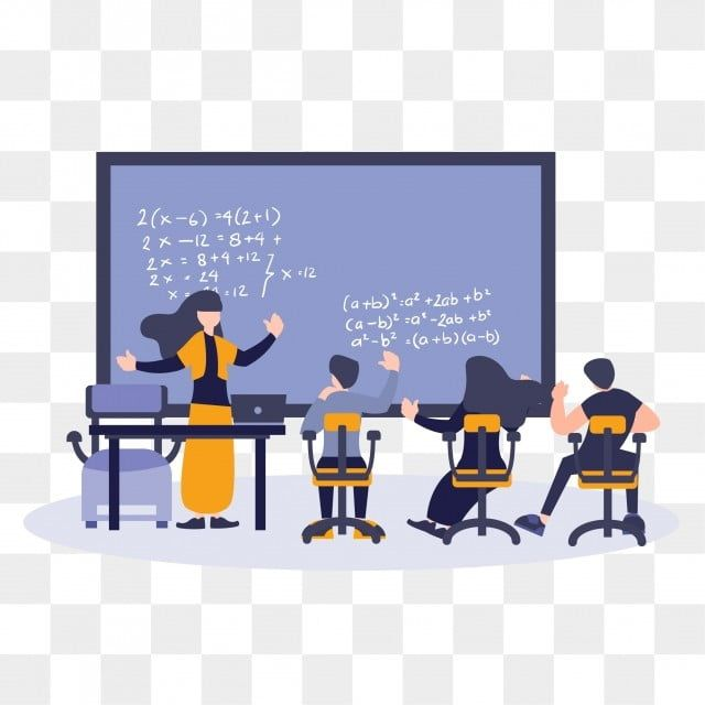 Flat Cartoon Illustration Students And Teacher Learning And Study Education Concept Back To School Study Education Png And Vector With Transparent Background Cartoon Illustration Teachers Learning Teacher Cartoon
