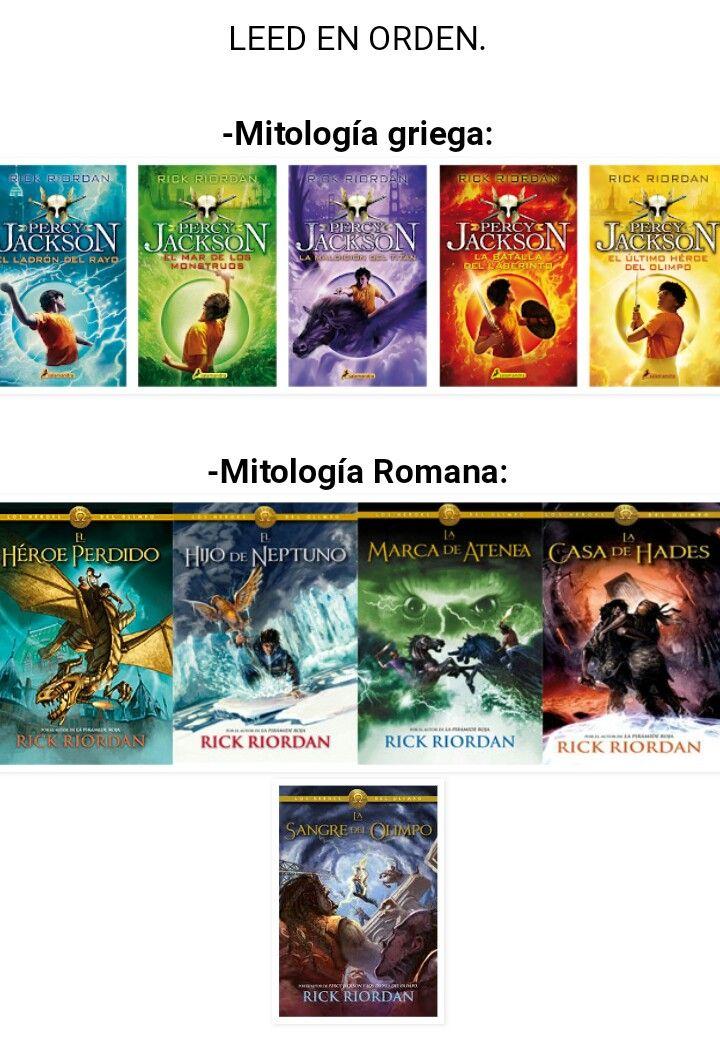 Saga Orden De Percy Jackson Y El Ladron Del Rayo Autor Rick