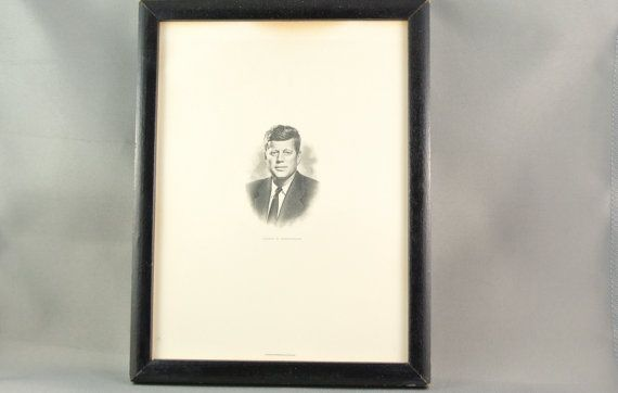 John F. Kennedy Steel-plate Etched Portrait  by RiversideMills