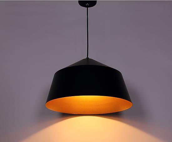 Hanglamp Mer, zwart/goud, B 42 cm