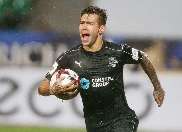 Fedor Smolov of FC Krasnodar celebrates after scoring a goal during the Russian…