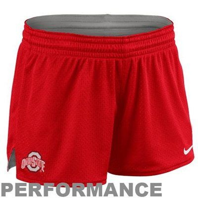 Nike Ohio State Buckeyes Women's Mesh Shorts - Scarlet