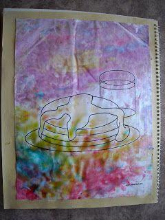Peindre avec sirop de maïs et colorant alimentaire