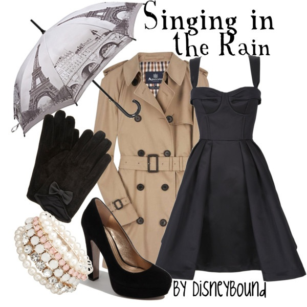 My fave is the umbrella: Inspiration Outfits, Rain Outfits, Rainy Day, Cute Outfits, Audrey Hepburn, Disneybound, Disney Bound, The Dresses, Trench Coats