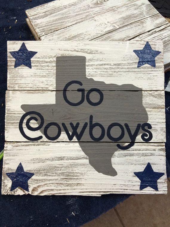 Dallas Cowboys sign, picket sign, pallet sign, NFL