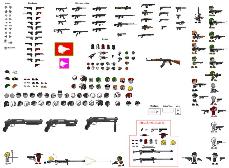 Thing Thing Sprite Sheet by FatherAlexander on deviantART