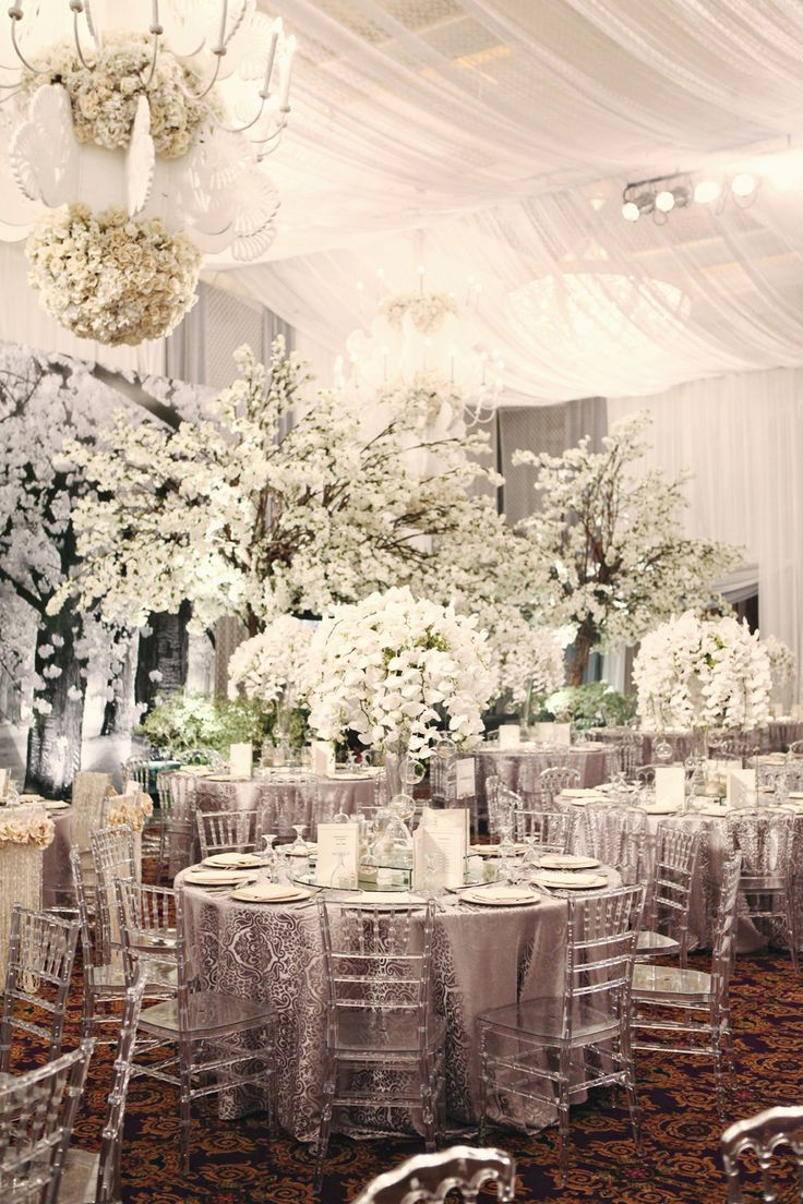 """Amazing floral arrangements! Photo by Axioo. Flowers and decor by Nefi Decor. Luxe """"Sea Shells & Pearls"""" Wedding: Jerry and Selina #jakarta #jakartawedding"""