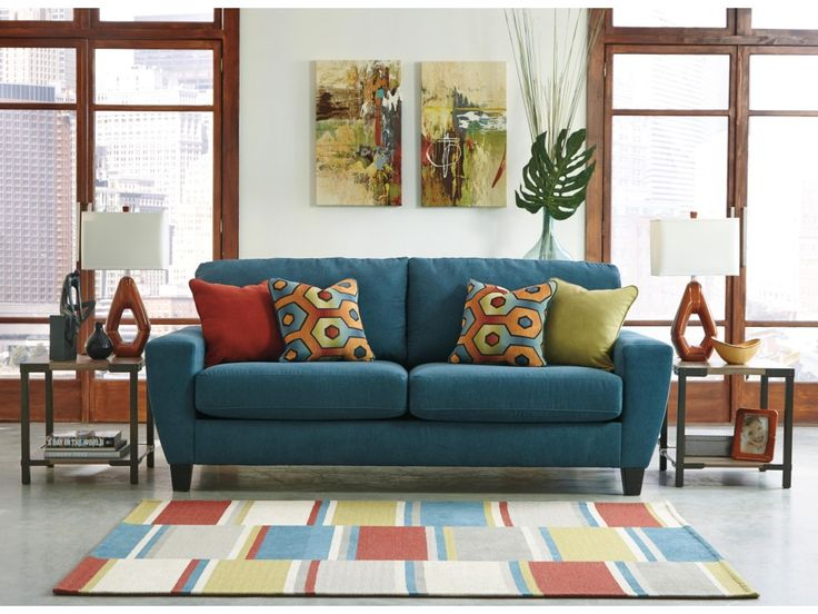 Ashley Signature Design Sagen Contemporary Sofa with Shaped Track Arms - Dunk & Bright Furniture - Sofa