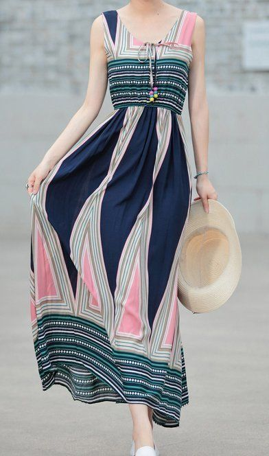 Women loose fit over plus size Bohemian dress ethic long maxi beach tunic chic #Unbranded #dress #Casual