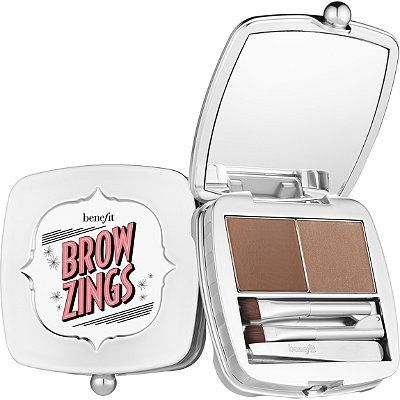 Brow Zings is an all-in-one eyebrow kit that includes everything you need to tame, shape & fill brows. The soft, pigmented wax creates shape & definition while the setting powder provides 12 hours of wear*.