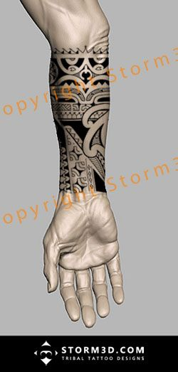 forearm-marquesan-tattoo-mixed-maori-koru-styles