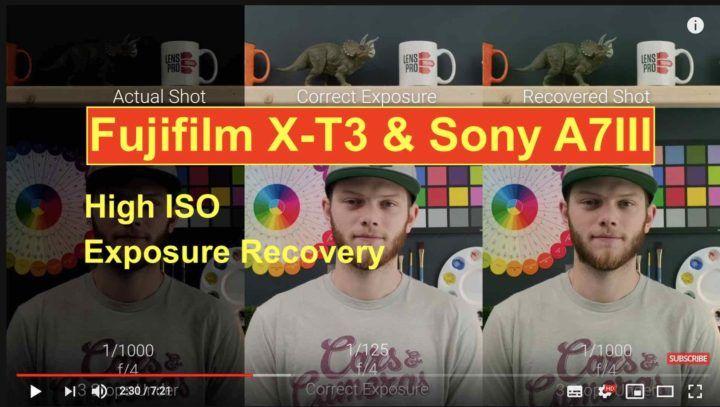 Fujifilm X-T3 vs Sony A7III Video High ISO and Exposure
