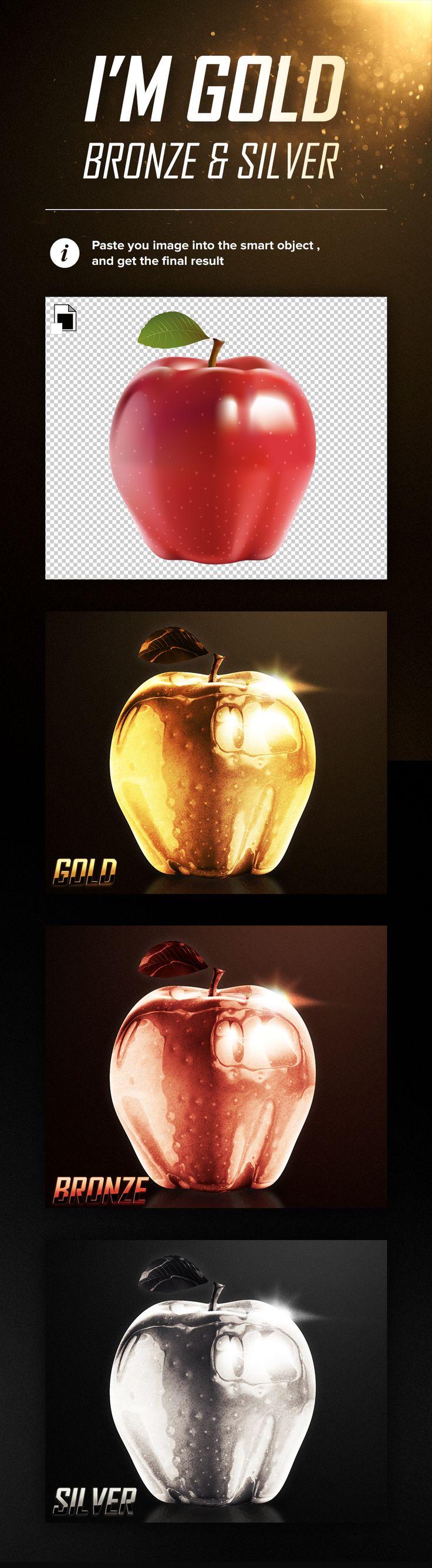 Free I'm Gold, Bronze & Silver Mockup (98 MB) | pixelmustache.net