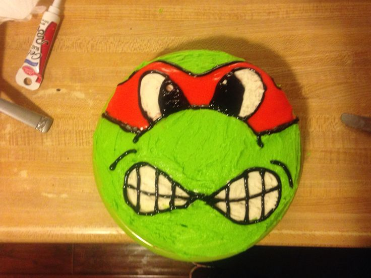 Easy ninja turtle cake | Birthday | Pinterest | Ninja ...